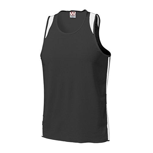 キャリア密接に心配wundou(ウンドウ) P-5510ランニングシャツ P-5510-66 66ブラック×ホワイト 130