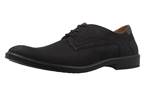 Laccio JOMOS 208203 12 uomo Derby semi scarpe, - H-weite scarpe, in nero Nero (Nero)