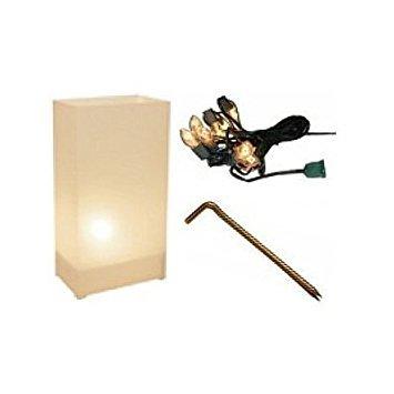 White Luminarias Electric Kit - pack of 10