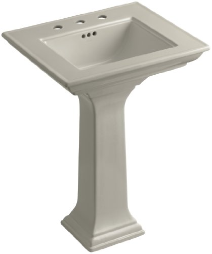 8 G9 Pedestal (KOHLER K-2344-8-G9 Memoirs Pedestal Bathroom Sink with Stately Design and 8