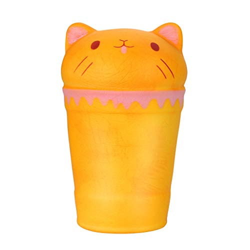 Tharv❤Temperature Color Change Squishies Cup Cat Slow Rising Scented Reliever -
