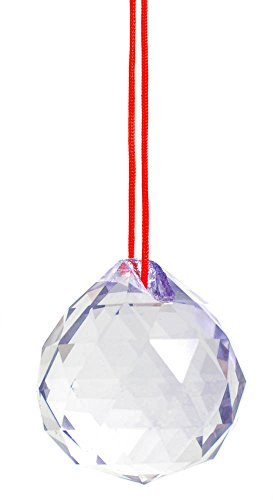 M.V. Trading 30mm Crystal Ball Prisms Pendant Feng Shui Suncatcher Decorating Hanging Faceted Prism Balls, Light - Orchid Faceted