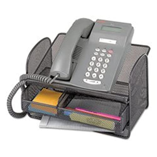 SAF2160BL   Safco Onyx Angled Mesh Steel Telephone Stand