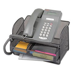 SAF2160BL - Safco Onyx Mesh Telephone Stand with Drawer