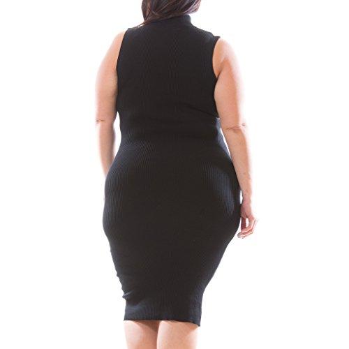 c4aa015635579 durable modeling Women s Plus Size Sleeveless Mock Turtleneck Sweater Dress  Maxi Knit Bodycon Fit