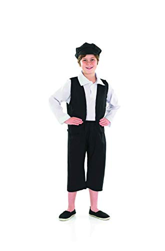 fun shack Kids Victorian Boy Costume Children'S Historical School Outfit - Medium -