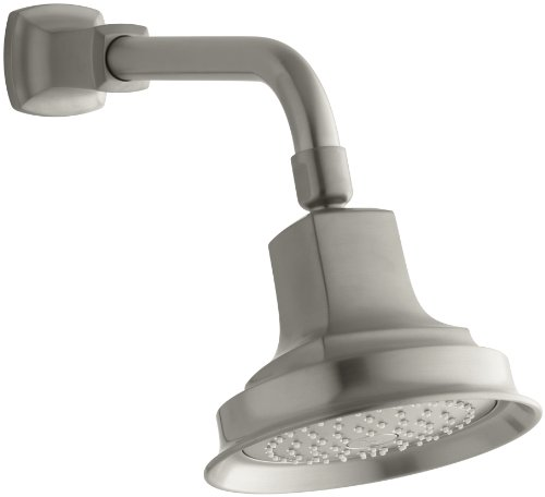 KOHLER K-16244-BN Margaux single-function showerhead, Vibrant Brushed Nickel (Handle Margaux Nickel Single)