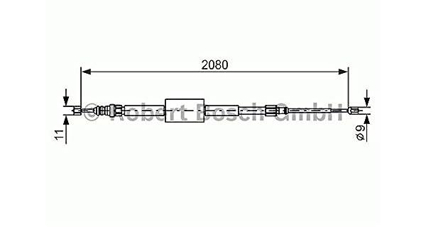 amazon com: bosch parking brake cable fits renault grand megane scenic  sedan wagon 2003-: automotive