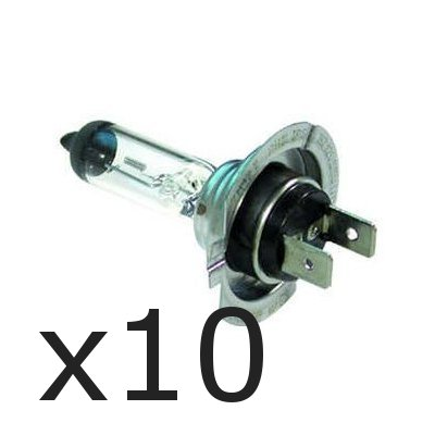 Wadoy  10 x Brand New H7 499 HEADLAMP HEADLIGHT CAR BULBS 12v 55w 2 PIN
