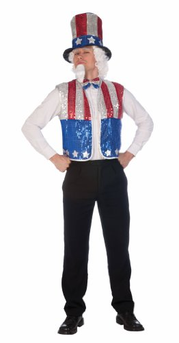 Forum Novelties Patriotic Party Sequin Uncle Sam Costume Kit