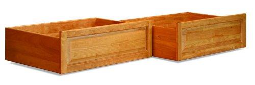 Atlantic Furniture Raised Panel Storage Drawers (Set of 2) - Twin/Full - Natural Maple ()