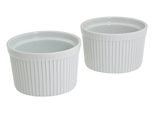 Bia Cordon Bleu Tall White Porcelain 16-Ounce Souffle, Set of 2 (Best Chicken Cordon Bleu Casserole)