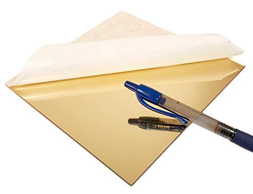 (Acrylic Gold Mirror Sheet Laser Cut Smooth Edge (8