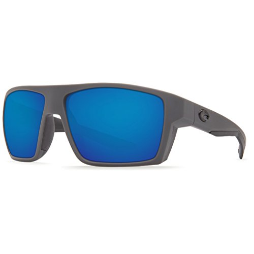 Costa Del Mar Bloke 580P Bloke, Matte Gray Matte Black Blue Mirror, Blue - Pads Costa Nose Del Mar