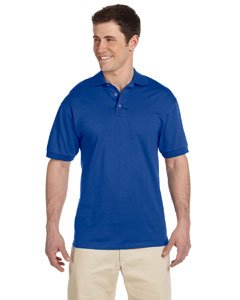 Heavyweight Jersey Sweater - Jerzees mens 6.1 oz. Heavyweight Cotton Jersey Polo(J100)-ROYAL-L