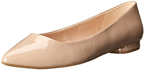 Nine West Women's Onlee Synthetic Pointy Toe Flat, Taupe, 37 B(M) EU/5 B(M) UK