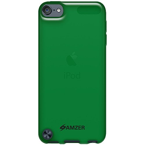 Ipod Touch Green (Amzer Soft Gel TPU Gloss Skin Fit Case Cover for Apple iPod Touch 5G (Translucent Green))