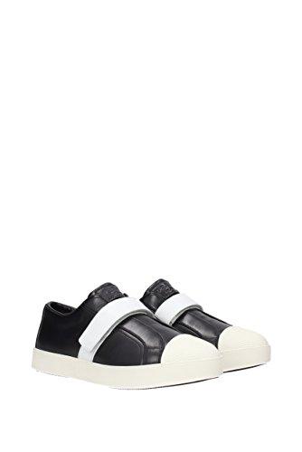 Sneakers Baskets Chaussures En Prada Noir Cuir Femme qHFwf7S
