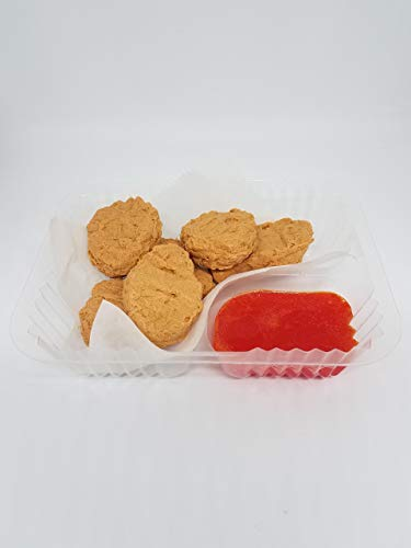 Chicken Nuggets with Sweet and Sour Sauce Novelty Soap in Food Tray by Crazy Mama's Soap and -