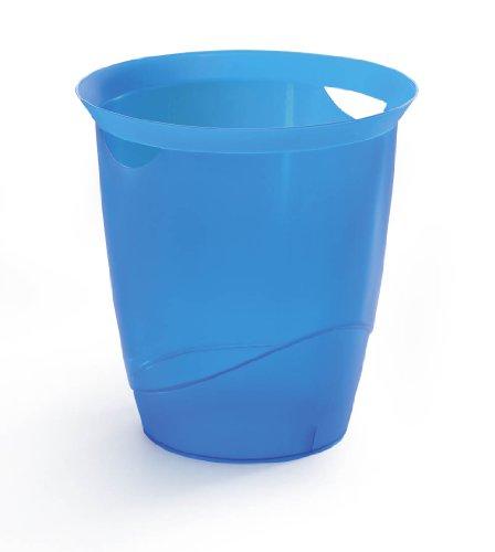 Durable 1701710540 Papierkorb Trend, transluzent blau