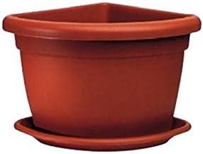 Produttori Vasi In Plastica.Vaso Fioriera Angolare In Plastica Solida Cm 45x45 Amazon It