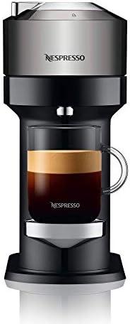 Nespresso, Nueva Cafetera Vertuo Next, Color Dark Chrome (Incluye obsequio de 12 cápsulas de café)
