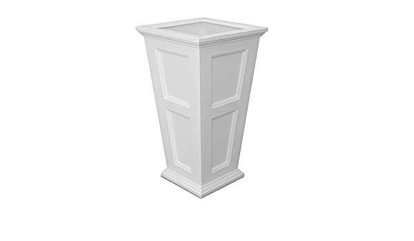 Fairfield Tall Planter White Self Watering Gardening Container Pot Outdoor New