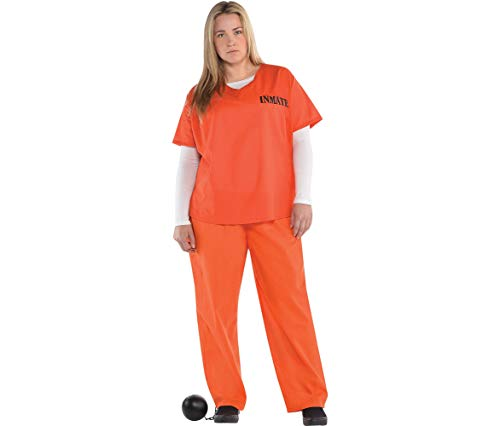 Orange Prisoner Costume for Women, Plus Size, by -