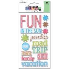 EK Success Sticko Phrase Cafe Epoxy Stickers, Vacation ()