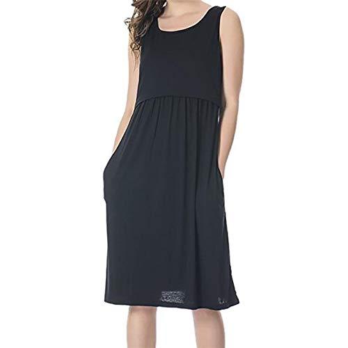 78037c4d856 Global Spree Maternity Dresses Pregnant Breastfeeding Dress - Black ...