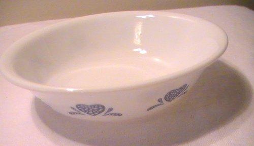 Corelle Blue Heart Soup/Cereal/Fruit/Dessert (Sauce) Bowl - One (1) Bowl