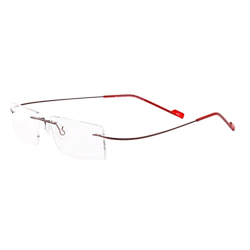 Royal Son Rimless Rectangular Unisex Spectacle Frame (RS04910ER|50|Transparent)
