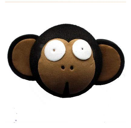 Access All Areas Cheeky Monkey Monkichi Brown Aerial Ball Topper Car Locator Finder Mother's Day Girl Birthday Gift (Antenna Topper Glitter)