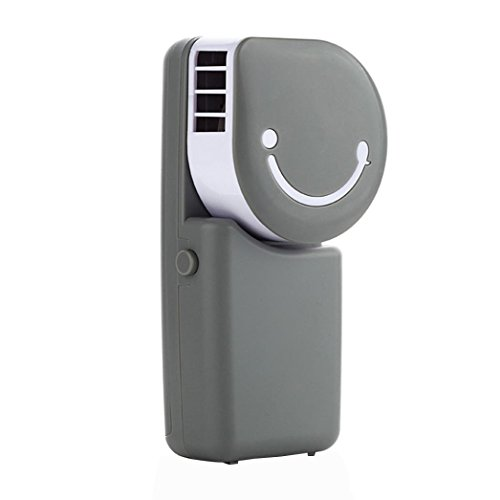 YJYdada USB Rechargeable Portable Mini Handheld Air Conditioning Cooling Fan (gray)