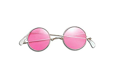 Lennon Glasses Glasses Accessory for 60s 70s Hippie Fancy Dress Glasses . Pink by Partypackage Ltd