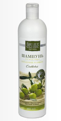 "Shampoo with Olive Leaf Extract for the Whole Family 600 Ml ""Family Classic"""