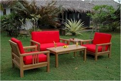 Anderson Teak Patio Lawn Garden Furniture SouthBay Deep Seating Collection - Love seat ()