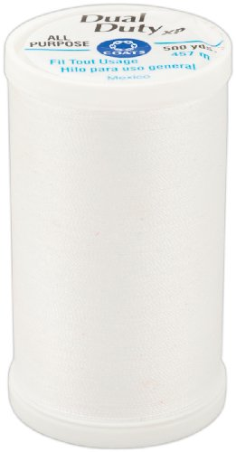 COATS & CLARK Dual Duty XP General Purpose Thread, 500-Yard, White