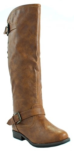 Bamboo Women's Montage-83 Tan Boots 7 D(M) - Bamboo Womens Boots