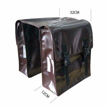 Cnebikes Brown Waterproof Bicycle Rear Seat Carrier Bag D...