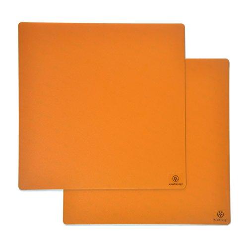 Mamorubot 3D Printing Build Surface No adhesive residue 3D Printer Plate ; 8.66'' x 8.66'' Square; Orange by Mamorubot