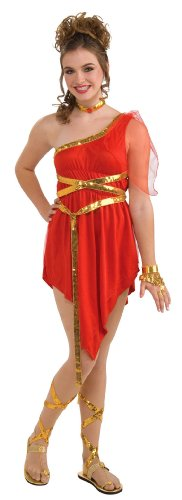 Teen Ruby Red Goddess Costumes (Girls Ruby Red Goddess Costume - Juniors up to size 9)