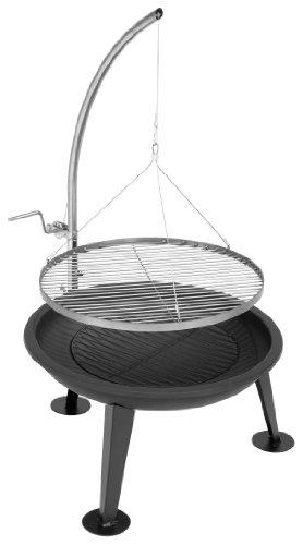 justus narziss feuerschale und schwenkgrill schwarz grill grillzubeh r shop. Black Bedroom Furniture Sets. Home Design Ideas