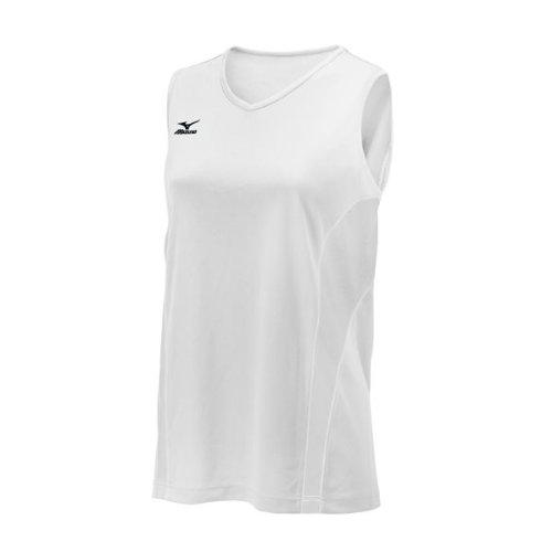 Mizuno Women's Performance Sleeveless G3 Jersey, White, (Mizuno White Pullover)