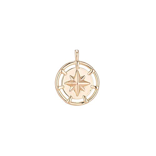(Jewelry Making Supplies Dainty 18k Gold Filled North Star Charm Starry Twinkle Starburst Coin Pendant for Layer Necklace Earring Bracelet Jewelry Making Supplies)