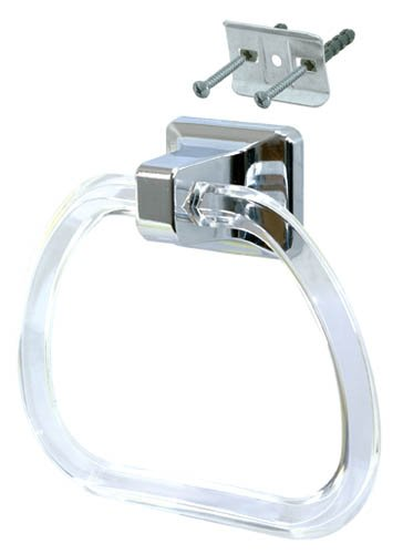 EZ-FLO 15232 Clear Lucite Towel Ring (Ring Plastic Towel)