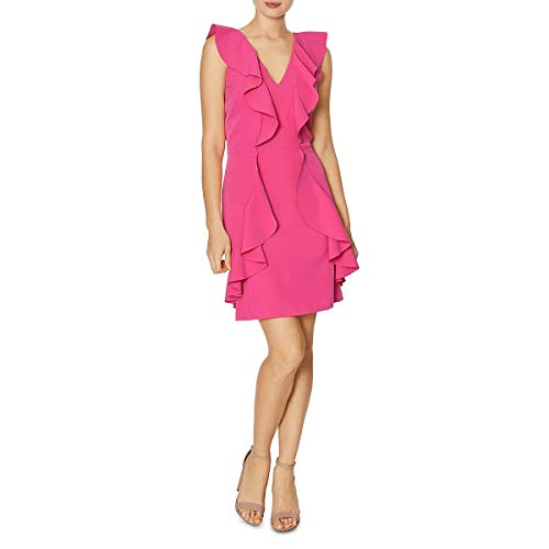 Laundry by Shelli Segal Women's Ruffle Core Cocktail Dress, Hot Pink, 8