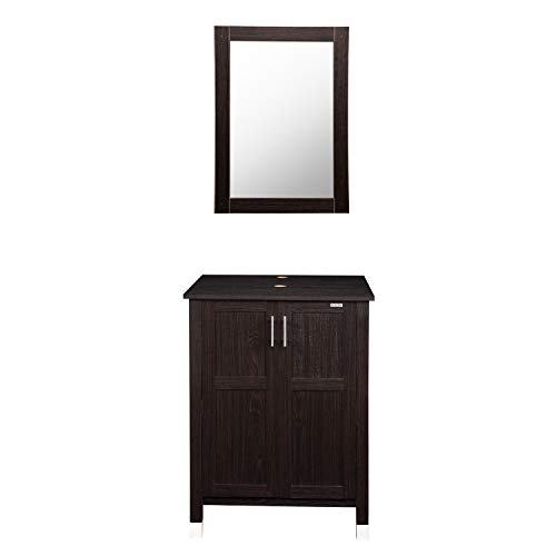 Modern Bathroom Vanity Stand Cabinet with Vanity Mirror,Single MDF -