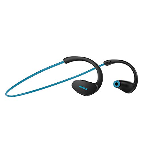 Mpow Cheetah Bluetooth Headphones, Sport Wireless Earbuds w/Aptx Sound, IPX5 Waterproof&8 Hrs Playtime, V4.1 Wireless Sport Headphones, Behind-Ear Running Headset w/CVC6.0 Noise Cancelling Mic,Blue