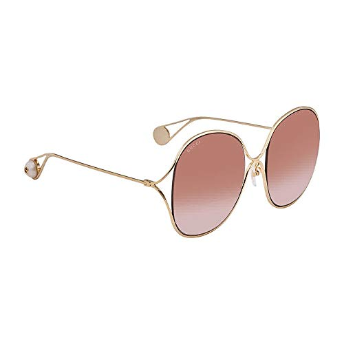 Gucci GG0362S 002 Gold GG0362S Square Sunglasses Lens Category 2 Size 57mm (Gold Gucci)